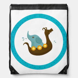 小さい旅行者: 象のバイキングのバックパック ナップサック
