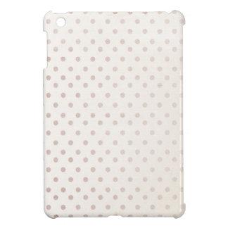 小さい暗灰色の点のプリントのクラシックでシンプルな金ベージュ色 iPad MINI カバー