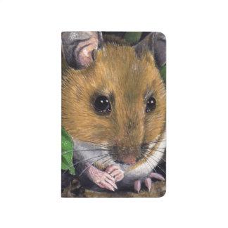 小さい木製マウスの絵画 ポケットジャーナル