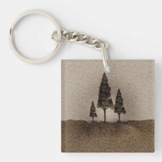 小さい木 キーホルダー