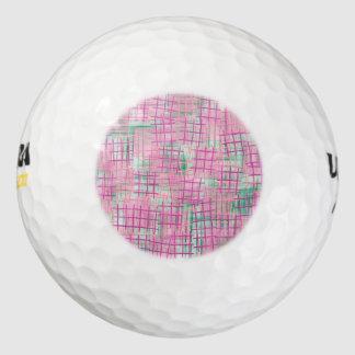 小さい格子ピンク ゴルフボール