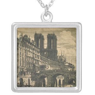 小さい橋1850年 シルバープレートネックレス