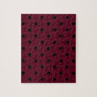 小さい水玉模様-暗い深紅の黒 ジグソーパズル