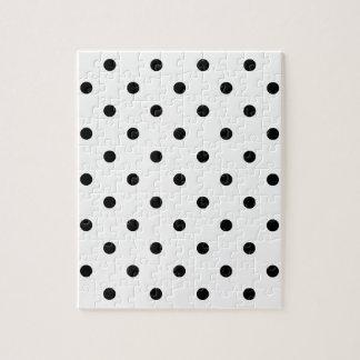 小さい水玉模様-白の黒 ジグソーパズル