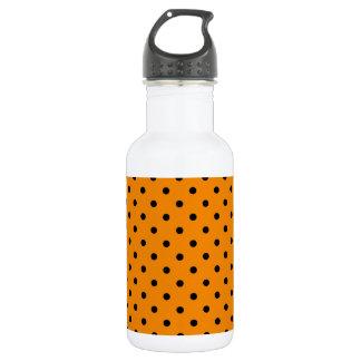 小さい水玉模様-蜜柑の黒 ウォーターボトル