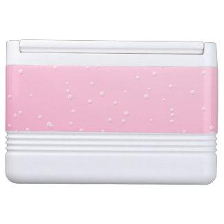 小さい泡背景の芸術のピンクのシャンペン クールボックス