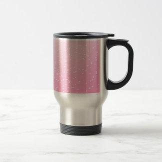 小さい泡背景の芸術のピンクのシャンペン トラベルマグ