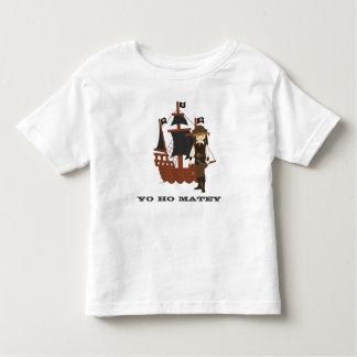 小さい海賊名前入りなTシャツ トドラーTシャツ