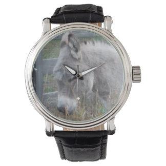 小さい灰色のろば 腕時計