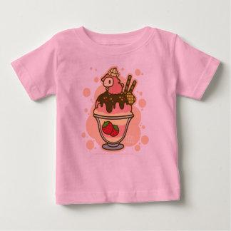 小さい無くなった子ヒツジのいちごのサンデー ベビーTシャツ