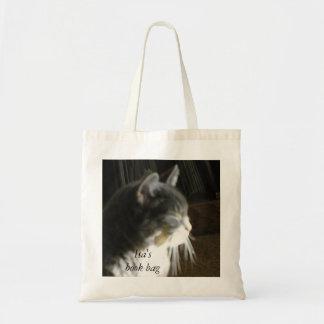 小さい猫の昼寝の油絵のブックバッグ トートバッグ