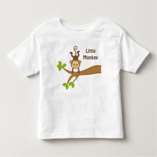 小さい猿のカスタムな幼児の罰金のジャージーのTシャツ トドラーTシャツ