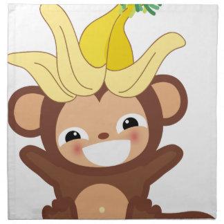 小さい猿のコレクション101 ナプキンクロス