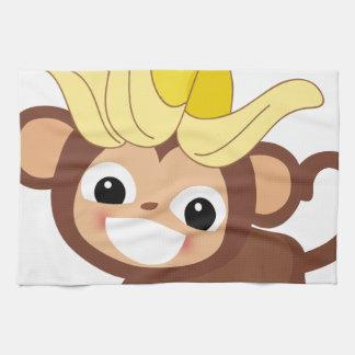 小さい猿のコレクション102 キッチンタオル