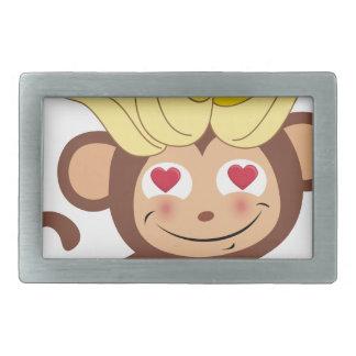 小さい猿のコレクション107 長方形ベルトバックル