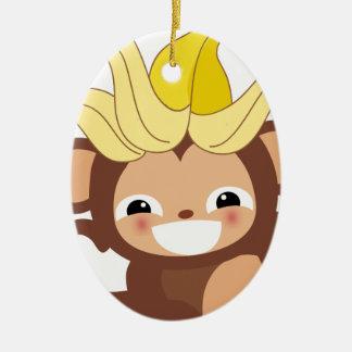 小さい猿のコレクション111 セラミックオーナメント