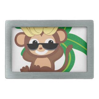 小さい猿のコレクション114 長方形ベルトバックル