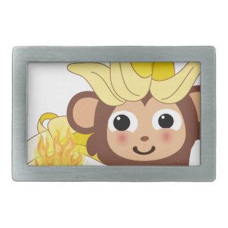 小さい猿のコレクション128 長方形ベルトバックル