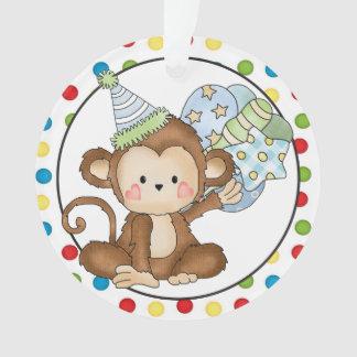 小さい猿のハッピーバースデーのオーナメント オーナメント