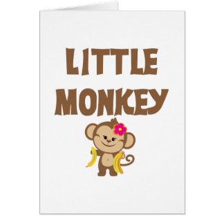 小さい猿(女の子) カード