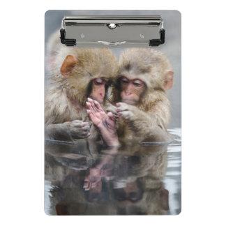 小さい猿| Hot Springs、日本 ミニクリップボード