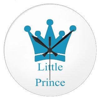 小さい王子-王室のな赤ん坊の養樹園 ラージ壁時計
