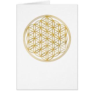 小さい生命|金ゴールドの花 ノートカード