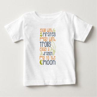 小さい男の子のおとぎ話のワイシャツ ベビーTシャツ
