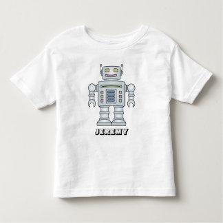 小さい男の子のための名前入りなロボット漫画のTシャツ トドラーTシャツ