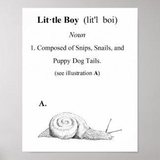 小さい男の子の定義 ポスター