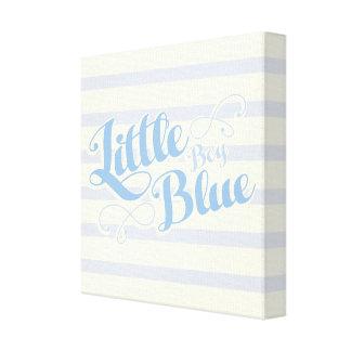 小さい男の子の青 キャンバスプリント