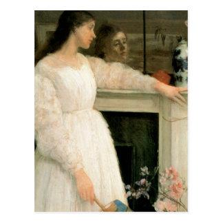 小さい白人の女の子; 白、2無しの交響曲 ポストカード