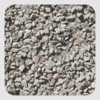 小さい石の写真 正方形シール・ステッカー