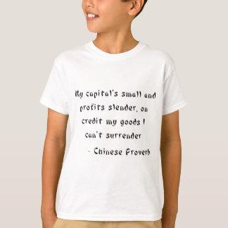 小さい私の信用で、細い首都および利益 Tシャツ