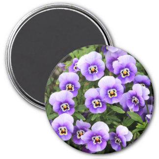 小さい紫色のパンジー マグネット
