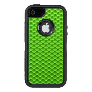 小さい緑の魚スケールパターン オッターボックスディフェンダーiPhoneケース