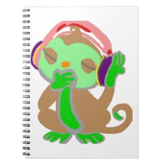小さい緑猿 ノートブック