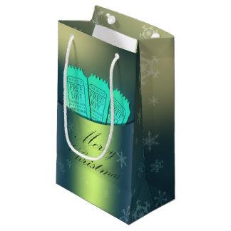 小さい自由恋愛、喜びおよび平和ギフトバッグ-光沢のある スモールペーパーバッグ