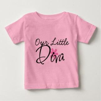 小さい花型女性歌手のベビーのTシャツ ベビーTシャツ
