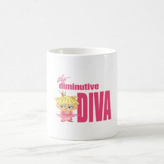 小さい花型女性歌手 コーヒーマグカップ