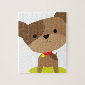 小さい茶色の子犬 ジグソーパズル