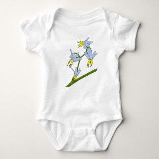 小さい草の花 ベビーボディスーツ