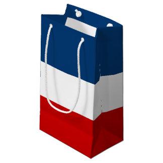 小さい赤く白くおよび青のギフトバッグ-光沢のある スモールペーパーバッグ