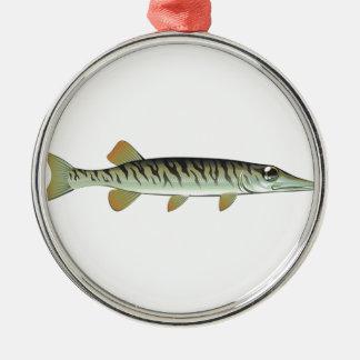 小さい赤ん坊のmuskieのベクトル芸術の養魚場 メタルオーナメント
