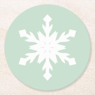 小さい雪片 ラウンドペーパーコースター
