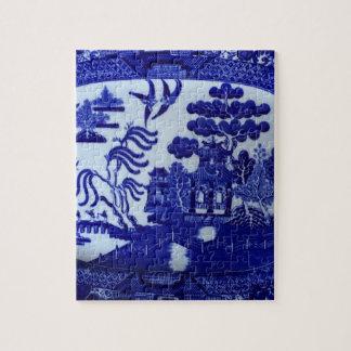 小さい青いヤナギの中国のパズル ジグソーパズル