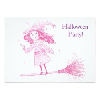 小さい魔法使いのハローウィンパーティの招待 カード