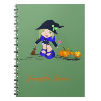 小さい魔法使いの魔法使いのカボチャ、ノート ノートブック