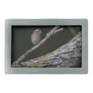 小さい鳥 長方形ベルトバックル
