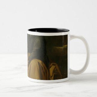 小さい鳥、c.1650を持つ神聖な家族 ツートーンマグカップ